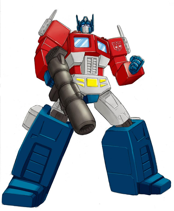 cartoon optimus prime by beamer