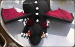 Black crochet dragon