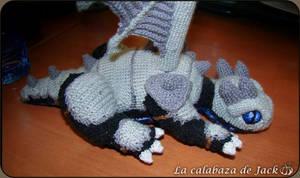 Crochet dragon with armor