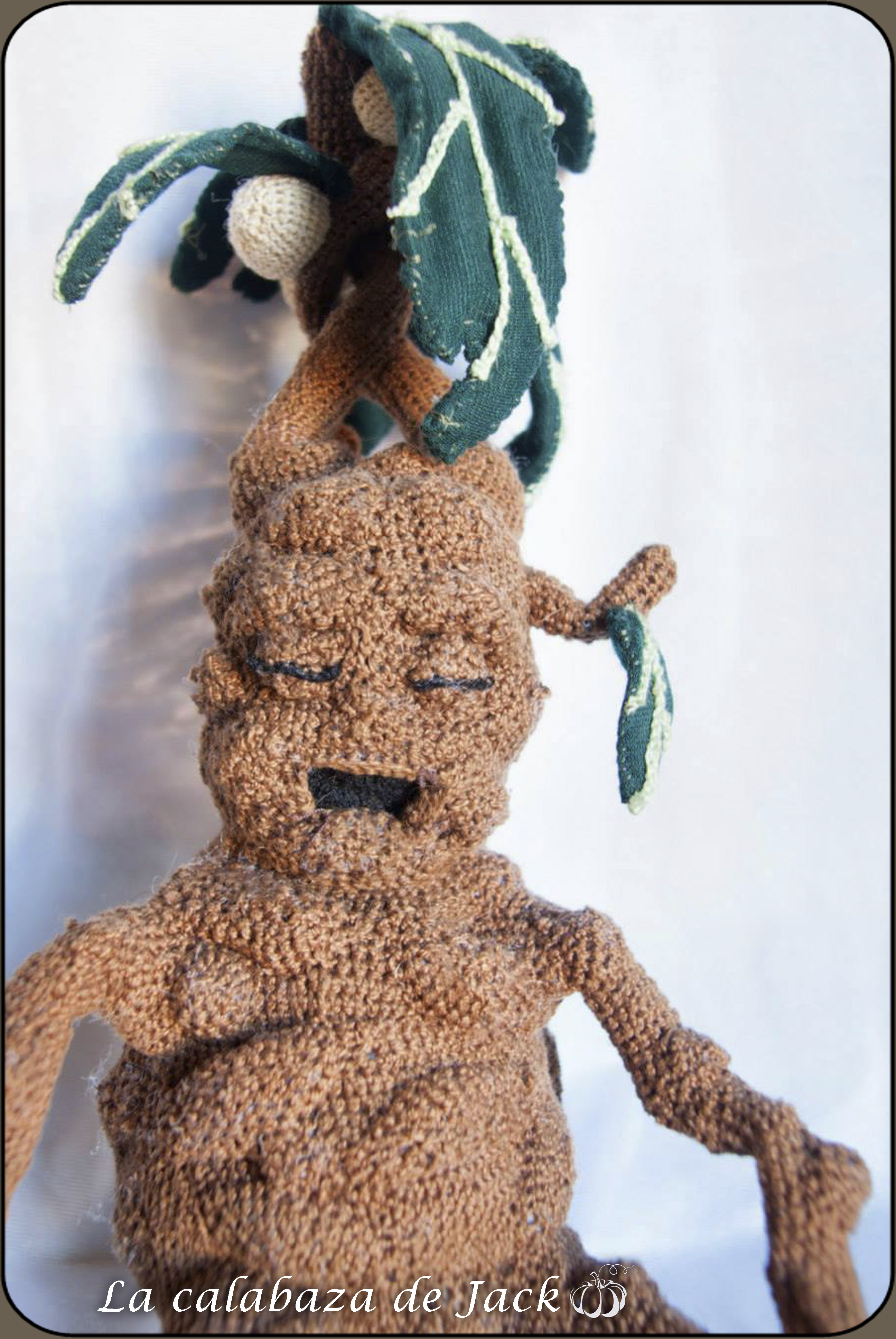 A Mandrake Root that I made. X post from /r/crochet. : harrypotter | 3872x2592