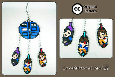 Doctor Who hama dream catcher (Original pattern) by cristell15