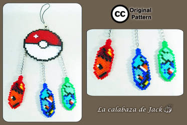 Pokemon hama dream catcher (Original pattern) by cristell15