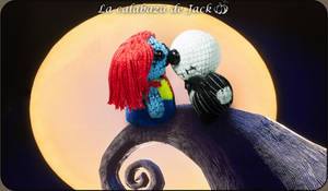 Jack and Sally Amigurumi by cristell15