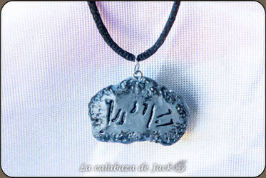 Skyrim dragon word Necklace by cristell15