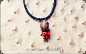 Baby Groot Necklace by cristell15
