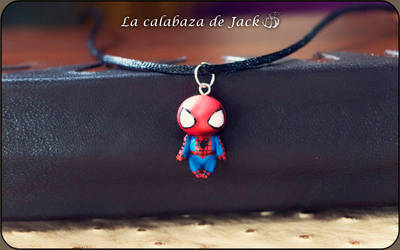 Spiderman Necklace by cristell15