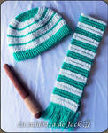 Baby Slytherin Hat and scarf (Harry Potter) by cristell15