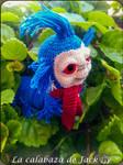 Labyrinth worm Amigurumi by cristell15