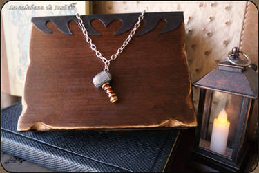 Thor hammer necklace by cristell15
