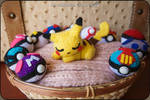 Sleepy Pikachu Amigurumi by cristell15