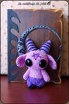 Purple demon Amigurumi
