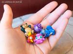 Pokemon charms by cristell15