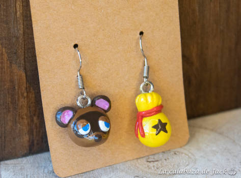 Tom Nook Earrings - Animal Crossing