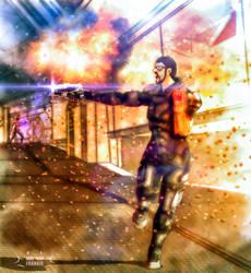 Frankie Shepard: Citadel defense by skullfrankie