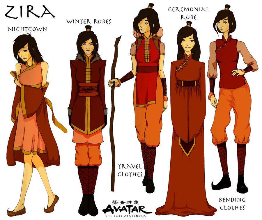 Character Design Avatar The Last Airbender : Oc zira character sheet by honeymunchkin on deviantart