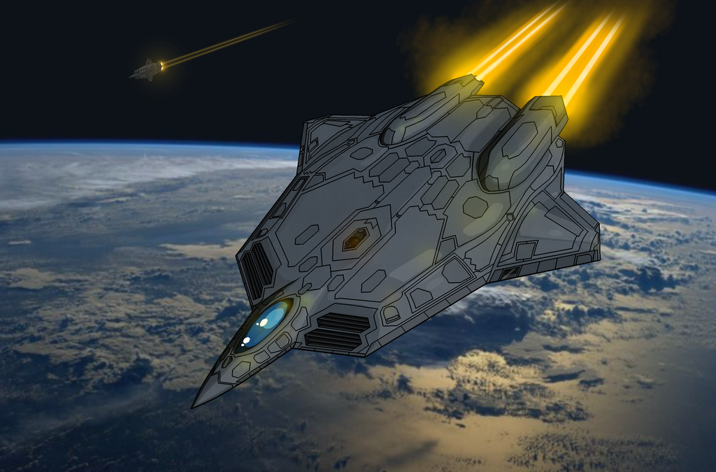 OMF-223A 'Phoenix' Future Space Stealth Fighter by The ... Futuristic Fighter Jets