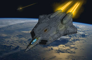 OMF-223A 'Phoenix' Future Space Stealth Fighter by The-Argonaut