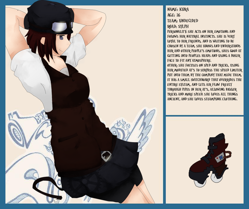 Air gear Character Sheet  Kura by Kumiko-Aki