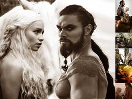 Drogo and Daenerys WP by DarkPixieTears