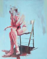 Seated Nude 7. by ScottBridgwood