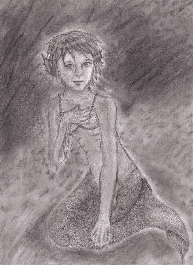 Faithe is a mermaid. by miajaganshi