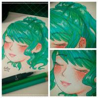 Green Haired Girl