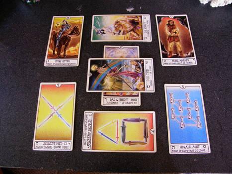 Tarot Card Arrangement Stock 1