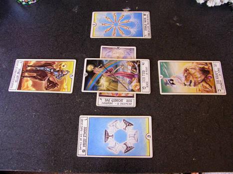 Tarot Card Arrangement Stock 2