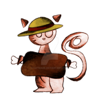Meow  - Luffy - by catmade