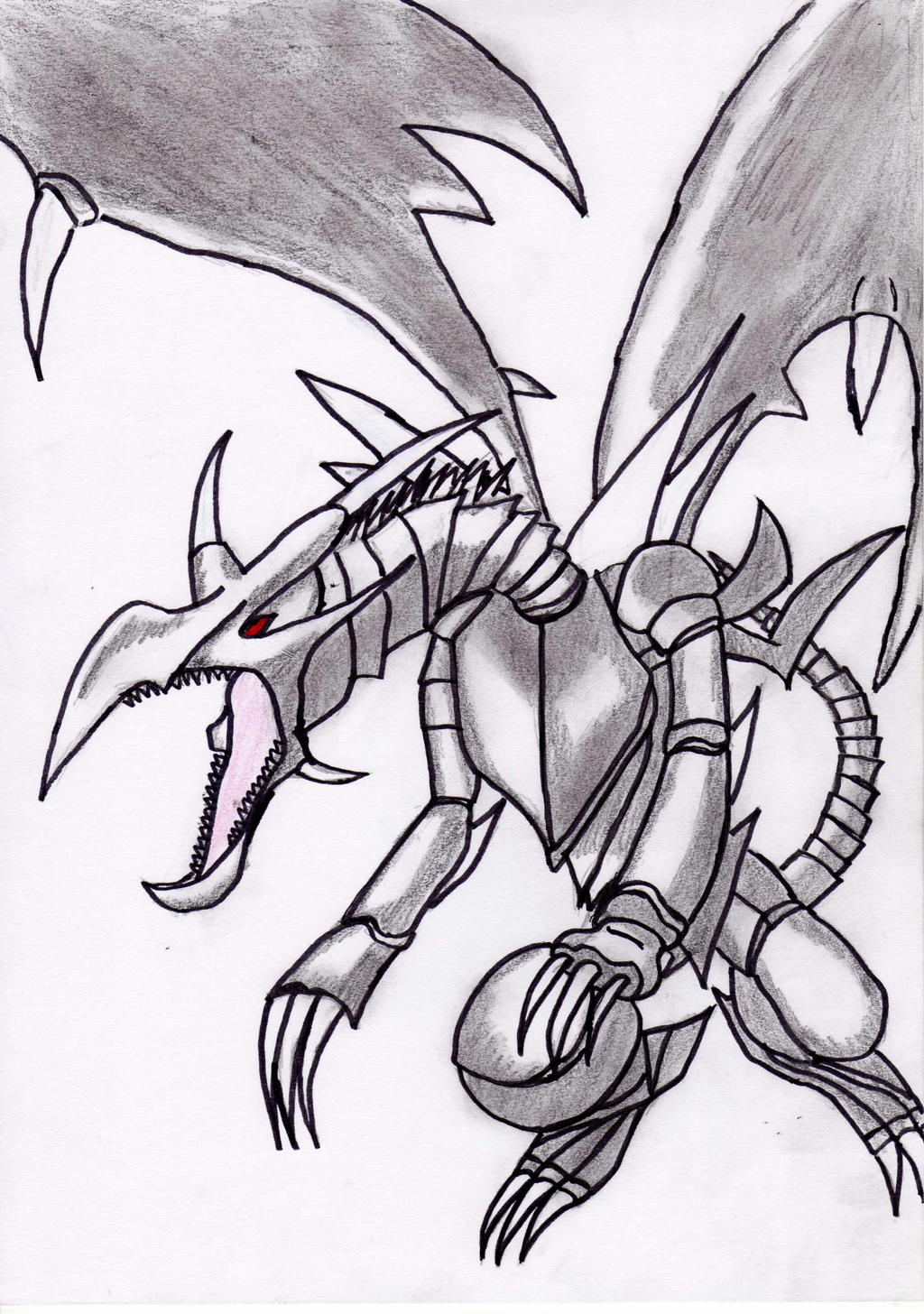 Redeyes Black Dragon Yugioh By Terror141ghost How To Draw