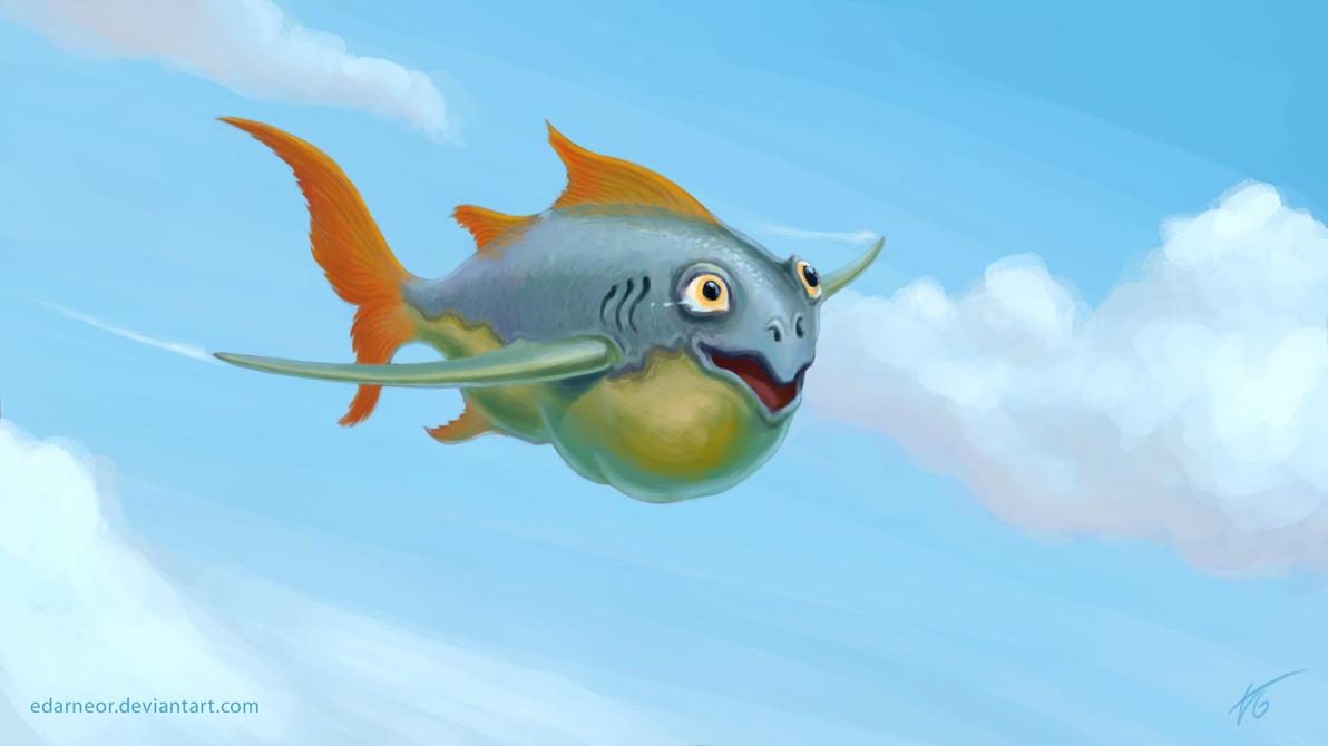 flying fish by cacodaemonia - photo #5
