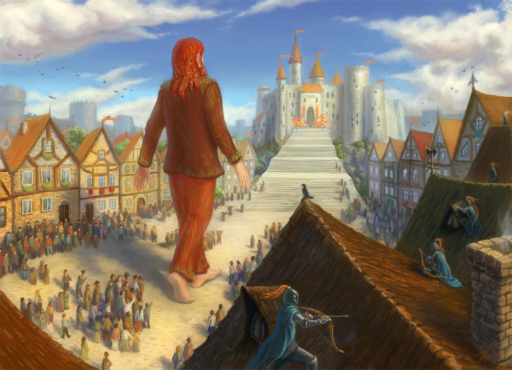 The Art of Lardam: Gollup enters Chelsa by Edarneor