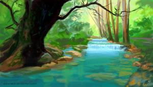 Forest Stream by Edarneor