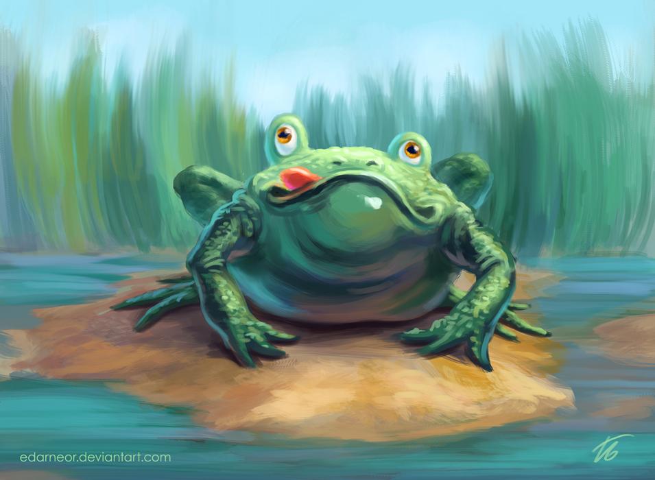 Happy froggy by Edarneor