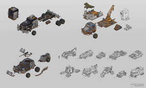 Post-apocalyptic vehicle concepts