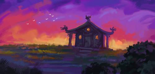 Monk's hut