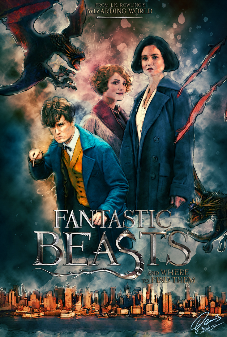 fantastic beasts and where to find them poster by denisdlugas on deviantart. Black Bedroom Furniture Sets. Home Design Ideas