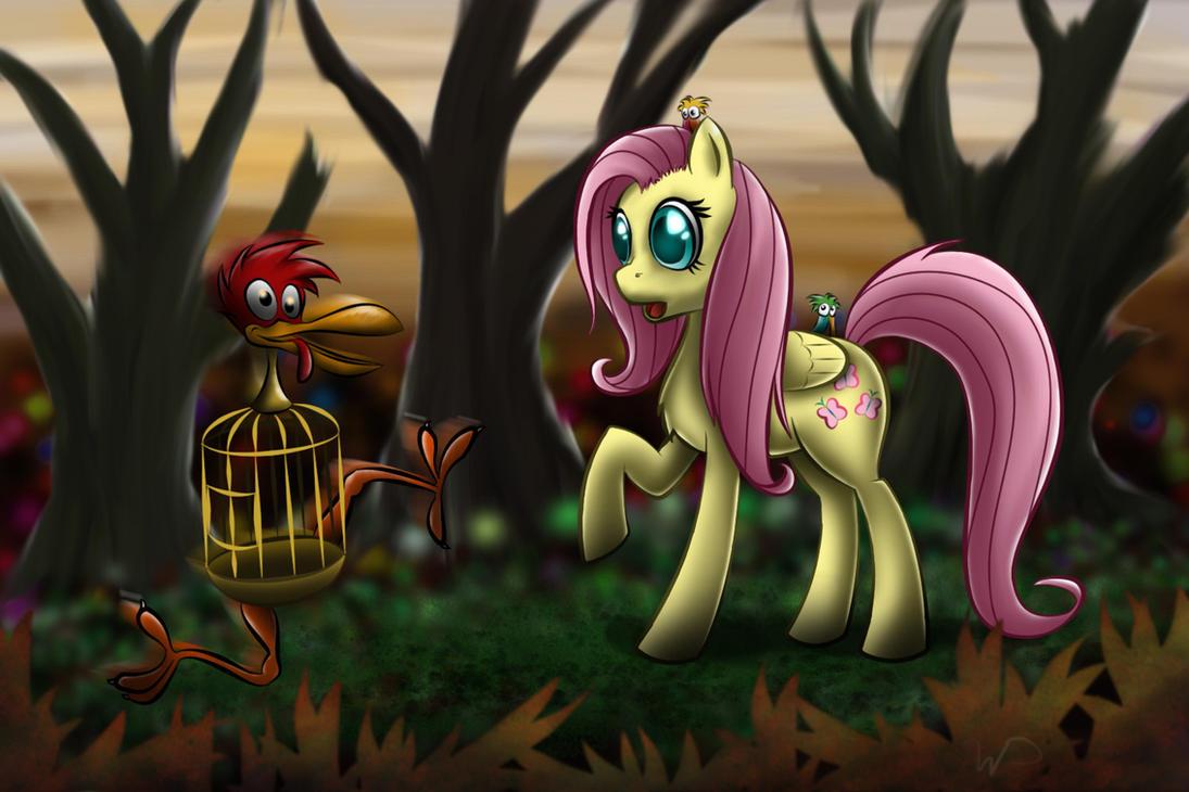Fluttershy in Wonderland by wdeleon