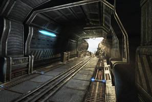 Sci Fi corridor destroyed by Mellon3D