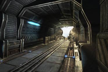 Sci Fi corridor destroyed