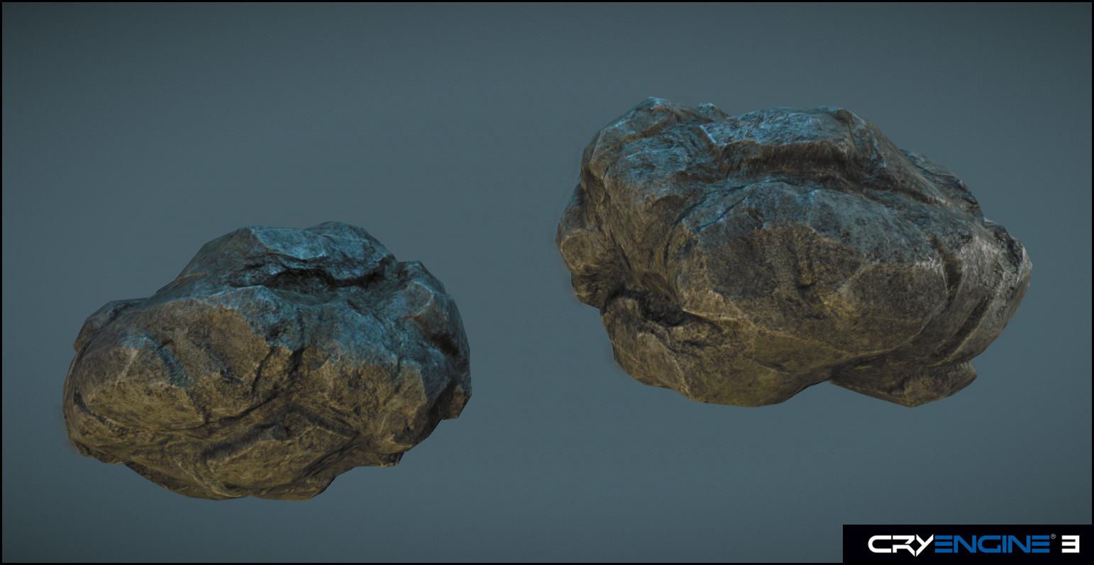 Rock_low-poly by Mellon3D