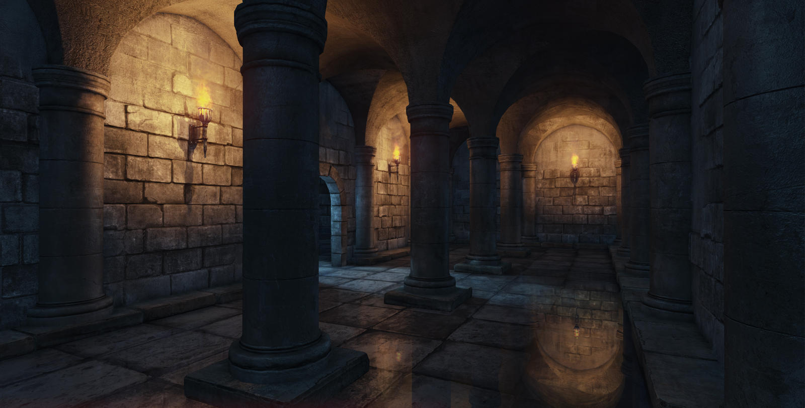 Medieval interior by mellon3d on deviantart for Castle interior designs