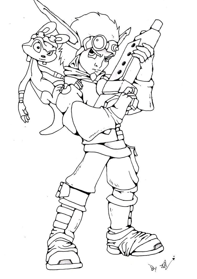 Jak And Daxter By Locuazmente On Deviantart Jak And Daxter Coloring Pages