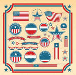 USA Design Elements and Icons