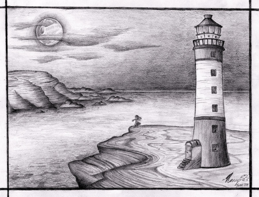 Image gallery lighthouse landscape drawings for What is landscape drawing