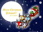 Merry Xmas Pekopon Wallpaper