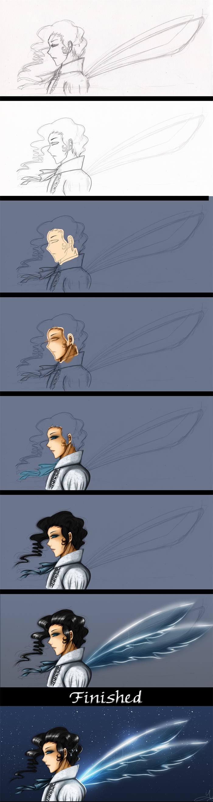 Drawing Process by YukiMiyasawa