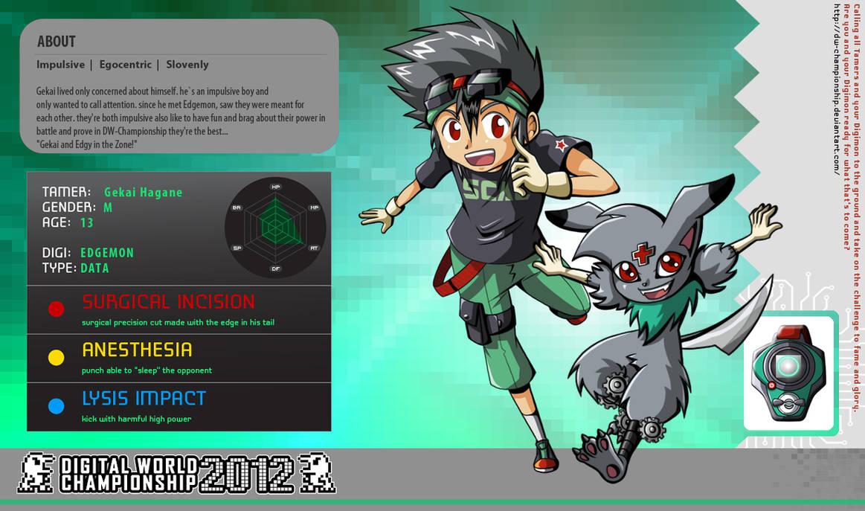 DWC 2012 App - Gekai and Edgemon by YukiMiyasawa on DeviantArt
