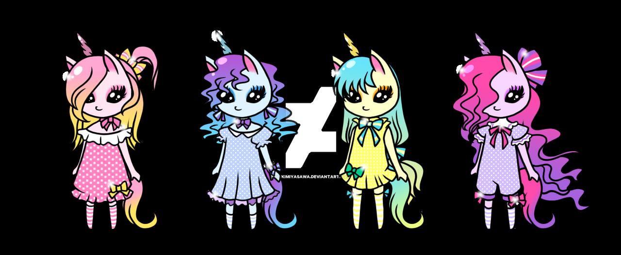 Cute Unicorns Girls Adoptables CLOSE By YukiMiyasawa