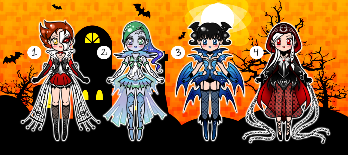 Halloween Sailor Senshi Adoptables CLOSED by YukiMiyasawa